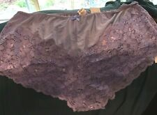 NWT Delta Burke Lavender 2X 9 Cheeky Panties Lace Poly Spandex Cotton