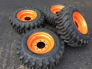CAMSO SKS332 12-16.5 Skid Steer Tires & Wheels/Rims for Bobcat - 12 PLY12x16.5