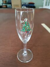 Christmas tree Champagne Flute