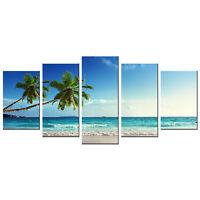 Modern Canvas Prints Wall Art Home Decor Painting Blue Landscape Seascape Framed