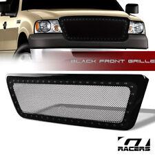 For 2004-2008 Ford F150 Black Rivet Bolt Steel Mesh Front Bumper Grill Grille