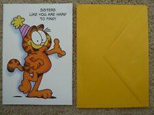 Garfield Comic Cat Birthday Greeting Card For Sister Bathroom Funny Jim Davis
