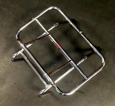 Front carrier rack chrome with fold down rack (long arm) for Lambretta by Cuppin
