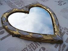 Wall Mirror Heart Mirror Heart Shape Baroque Shabby Retro Gold White Love Gift 1
