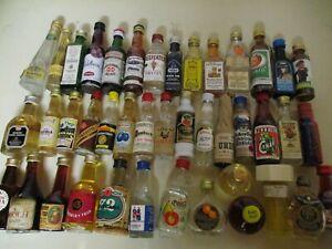 42  Mini Schnapsflaschen, Miniatur Spirituosen, Sammlungsauflösung