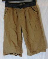Boys No Fear Brown Soft Denim Drawstring Waist Long Board Shorts Age 13 Years