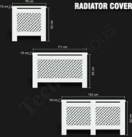 Oxford Radiator Cover White Modern Traditional Wood Grill Cabinet MDF Furniture