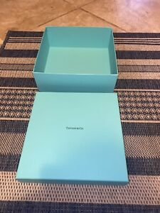"Authential NEW Tiffany & Co. Gift Box Tiffany Blue 10"" X 10"" X 4"" Empty"