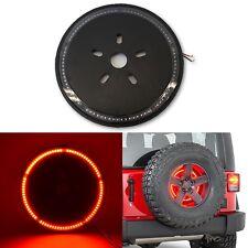 87-17 Jeep Wrangler Rear Tailgate Spare Tire Wheel Third Brake LED Light Lamp