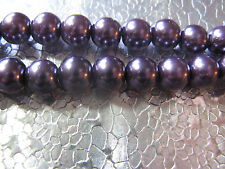 35 Creamy Purple Glass Pearl Beads 8mm Round Spacer Beads  Jewelry Findings