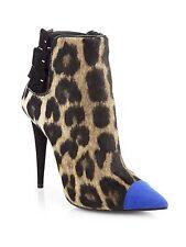 Giuseppe Zanotti Leopard-Print Calf Hair & Suede Ankle Boots