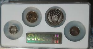 2004 Westard Journey Commemorative Set Ngc Pf69 (4) coins