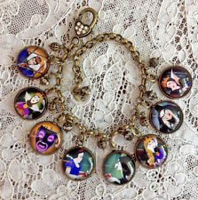 The Evil Queen ~ Glass Dome Charm Bracelet Handmade Vintage Snow White Movie