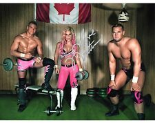 Natalya wwe photo dédicacée hart dynasty promo wwf Nattie dh smith tyson kidd