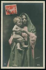 Mothercare Love Child Baby Tender Affection original old 1910s photo postcard