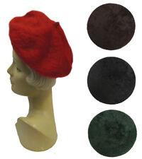 Chapeaux bérets angora pour femme
