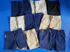 Boys Lot Of 10 Uniform Shorts Size 4 Khaki Navy Blue Cat & Jack