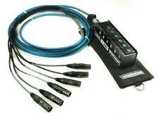 Whirlwind MS6MNR075 MINI 6 Channel Drop Snake 75ft Low Profile XLR Audio Snake