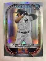 2021 Bowman Chrome Scouts Top 100 #BTP-53 Jasson Dominguez New York Yankees