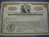 Vintage Stock Certificate New York Central Railroad Co.1940's  #0986