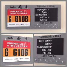 Personalised Runner/Triathlon/Cyclist/Ironman PB Medal hanger/holder