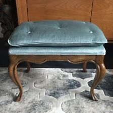 Drexel Heritage Upholstered Wooden Bench Mid Century Foot Stool Ottoman