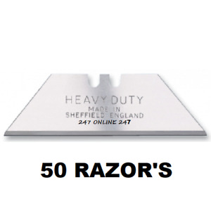 50 Heavy Duty Stanley Super Sharp  Razor Blades   Made In Sheffield
