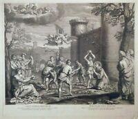 Martyrium Hl. Stephanus Steinigung Stoning Israel Märtyrer Carracci Bible 1671