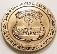 United States Secret Service Uniformed Division Brass Challenge Coin