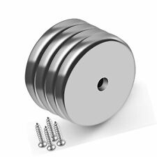 Pack Of 4 Neodymium Cup Magnet With Countersunk Hole 100 Lbs Pull Force Indus
