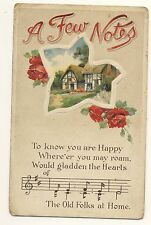 Vintage Postcard - A Few Notes - To Know you are Happy ..... - Posted 2200