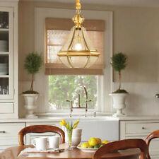 Bar Glass Lamp Home Pendant Light Copper Chandelier Lighting Room Ceiling Lights