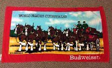 "Briggs Clydesdale Budweiser Beach Bath Towel 1986 52"" x 30"" Anheuser Busch"