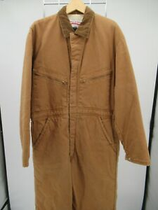 I9803 VTG Anthony's Men's Quilt Insulated Line Bib Work Overalls Coveralls M