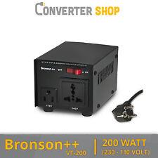 Bronson++ VT 200 Watt Transformateur / USA 230V - 110V Converter / Convertisseur