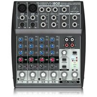 BEHRINGER xenyx 802 mixer professionale per DJ 8 canali NUOVO garanzia ITALIA
