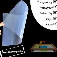 5 Milwaterproof Inkjet Positive Transparency Film 85x1125 Sheets