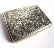 Cigarette Case - Vintage 1930s - Solid 950 Silver - 128g - Hand Chased - Japan