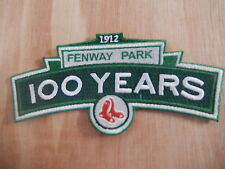 """BOSTON RED SOX """"100TH STADIUM ANNIVERSARY""""  Game Jersey PATCH New"""