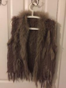 Fox Fur Gilet S/M