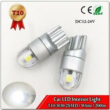2x HID White 360° T10 W5W 2825 2-3030-SMD LED Bulb Car Dome Map Lights DC12-24V