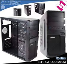 CAJA COOLBOX F200SF PANEL FRONTAL USB 3.0 2.0 AUDIO MICROFONO PC ORDENADOR ATX