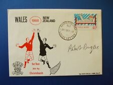 1988 NEW ZEALAND v WALES 1ST TEST COVER SIGNED BY ROBERT BURGESS