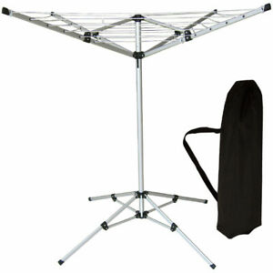Garden Rotary Airer Clothes Outdoor Free Standing Dryer 16M Folding Washing Line