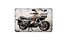 Cx650Tc Turbo Motorbike Sign Metal Retro Aged Aluminium Bike