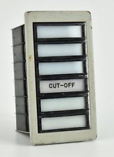 NASA Apollo *KSC LAUNCH CONTROL PANEL SATURN V ROCKET ENGINE CUT-OFF INDICATOR*