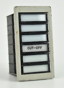 NASA Apollo *KSC LAUNCH CONTROL PANEL SATURN V ROCKET ENGINE CUT-OFF INDICATOR*