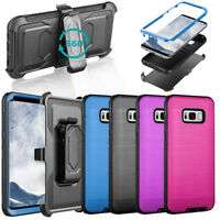 For Samsung Galaxy Note 8 S8  Plus  Hybrid Rugged Clip Holster Hard Case Cover