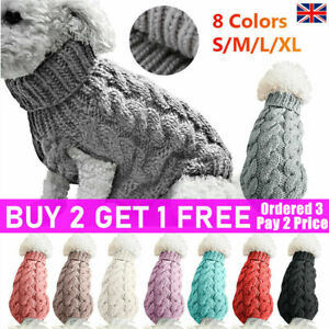 Fashion Puppy Dog Jumper Winter Dogs Coat Warm Knitted Sweater Pet Clothes cute~