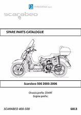 Piaggio parts manual book 2003, 2004, 2005 & 2006 Scarabeo 500